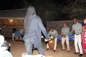 Kitty dancing at the Boma Dinner