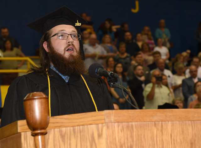 Will Young (19) sang at the spring commencement ceremonies of Morehead State on Saturday, May 11.