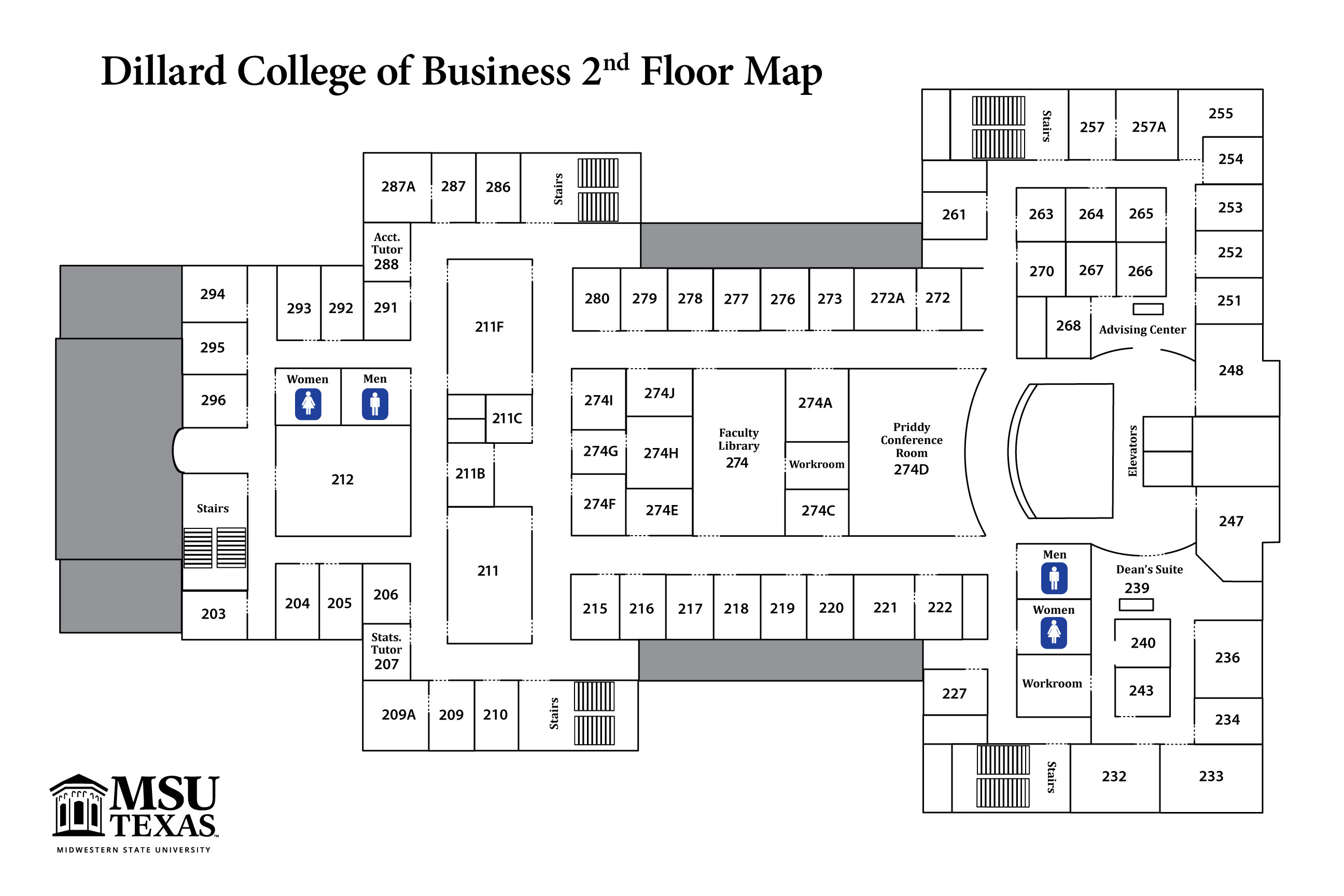 Dillard College Maps College Information Business Academics Msu Texas