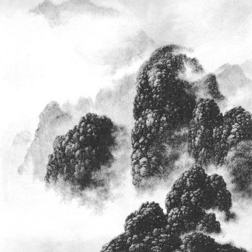 1999, ink on album leaf, 16 x 12.5 inches
