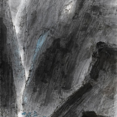 2012, ink on paper mounted has hanging scroll, 53.15 x 27.15 in