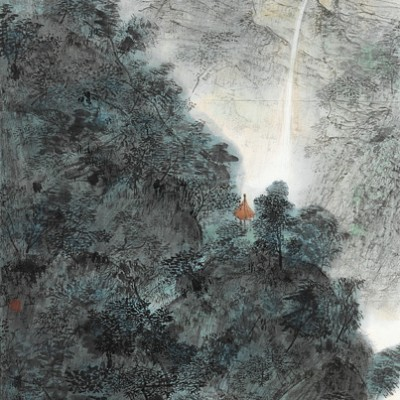 2010, ink on paper mounted as hanging scroll, 53.15 x 27.15 in