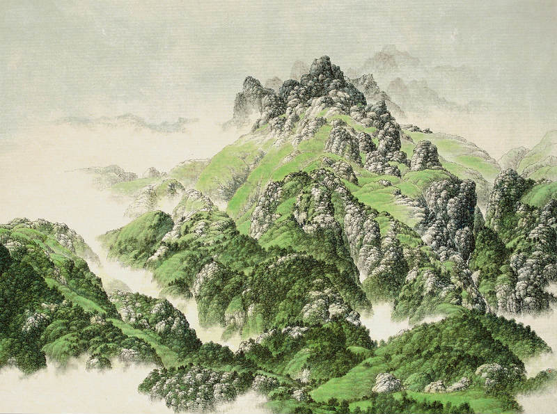 small HIF-Green-Mountains--68x91cm-1999