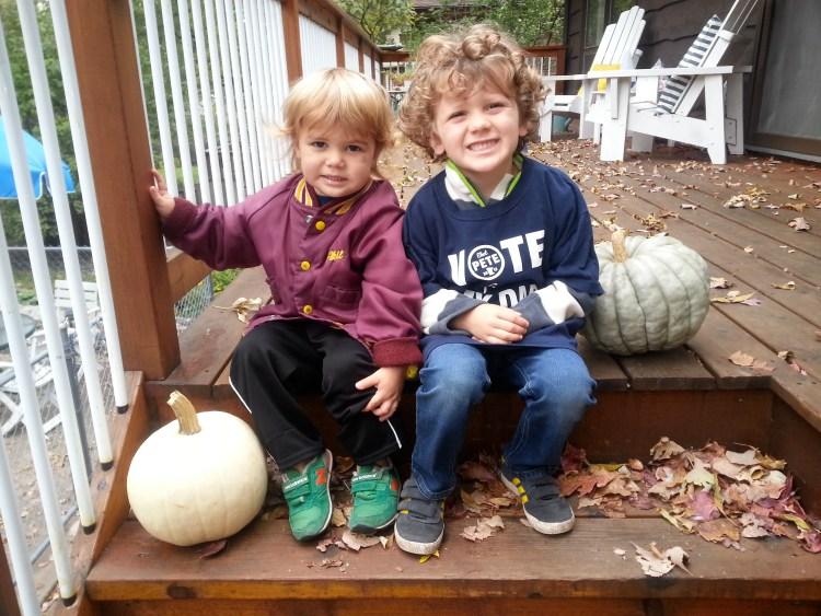 Pete Picture 3: Two Sons Sitting on Steps