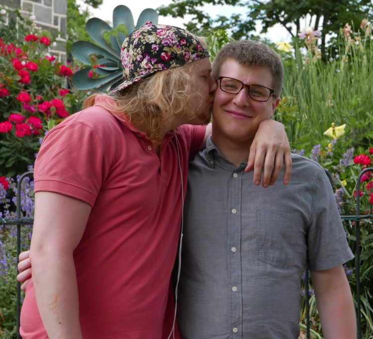Matt Picture 3: Two Sons in Fun Pose