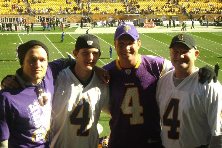Pete Picture 1: Pete and Family at Heinz Field for a Football Game: