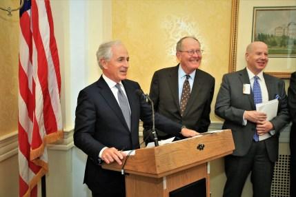 Sen. Bob Corker (R-TN), Sen. Lamar Alexander (R-TN), Matt Sweetwood Enjoy a Funny Moment