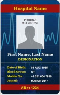 6 Best Medical Staff ID Card Templates MS Word | Microsoft ...