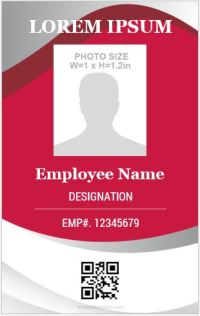 10 Amazing Employee Vertical Size ID Cards for FREE ...