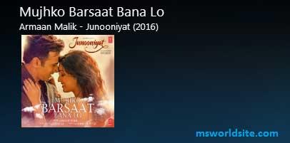 Mujhko Barsaat Bana Lo Guitar Tabs Lead - Junooniyat