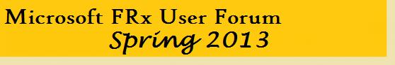 Microsoft FRx User Forum Spring 2013