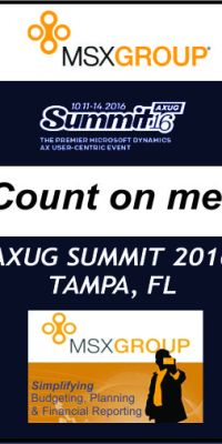 2016 AXUG Summit Count Me In