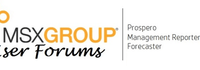 User Forums for Prospero, Management Reporter, and Forecaster