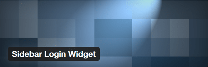 sidebar login widget