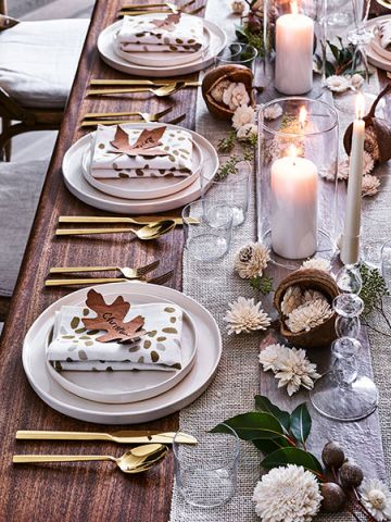 the perfect thanksgiving table