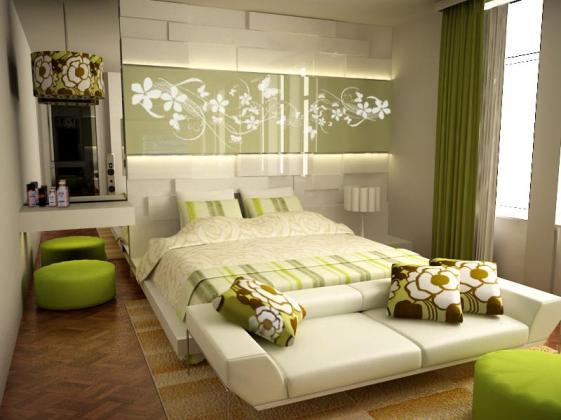 zelena-spalna-rustikalna
