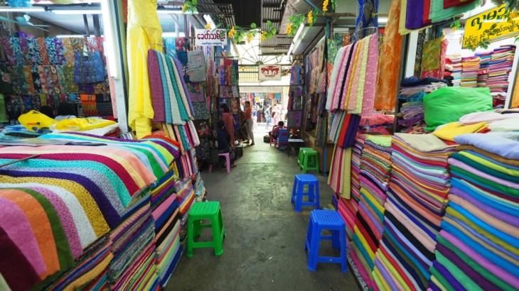 【ミャンマー】ヤンゴンのマーケット、ショッピングモールでお買い物