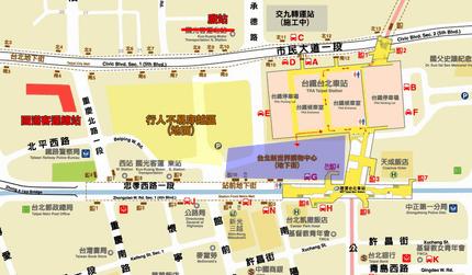 :: ephemeris ::»臺北車站附近國道客運車站位置圖