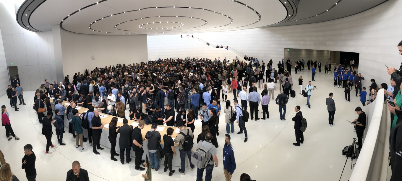 Steve Jobs theater lobby