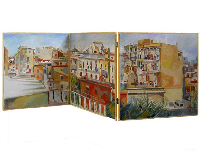 11-Alessandra-Carloni-I-tetti-di-Celestino-2010-pigmento-su-tela-170-x-70-cm