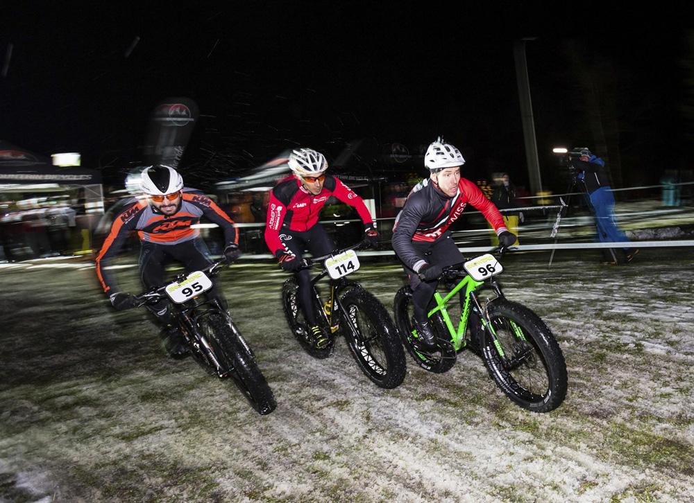 "Snow Epic stage 4 ""Eliminator"" course on the Klostermatte ski slopes."