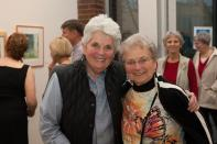 """Opening of the """"Flowers, Flores, Ubaxa"""" exhibition at the Mount Baker Neighborhood Center for the Arts. Shaugn Gorman and Charlene Hedon."""