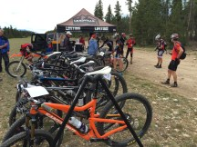 Pipeline aid station - the turnaround spot for the day 1 ride