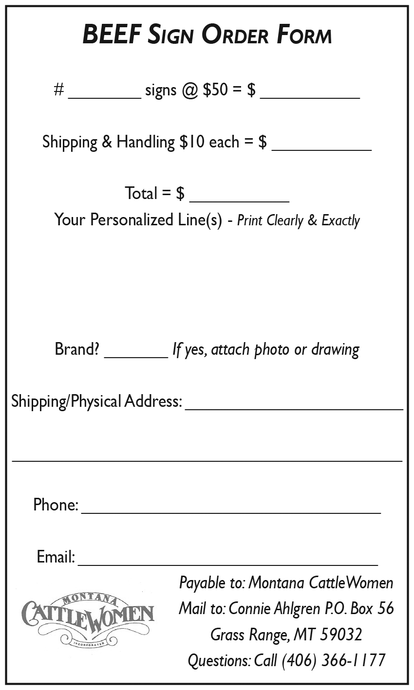 Print off this order form and mail with payment to MCW.