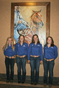 L to R, Elena Combs, Alyson Hicks-Lynch, Bailey Engle, Emily Griswold