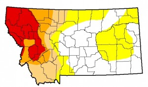 Montana Drought Monitor Update, August 13, 2015.