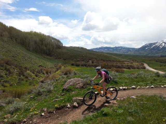 Finishing out Strand on the Canal Trail in Crested Butte