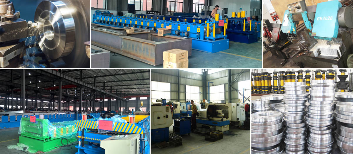 roll forming machine manfuacturing workshop