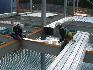 steel floor decking installation