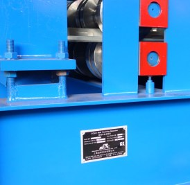 Name plate on Floor decking panel roll forming machine