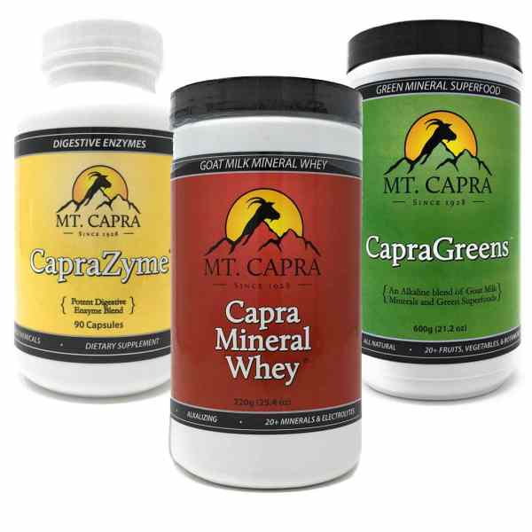 New Year, New You Product Bundle Goat Milk Product Mineral Whey, Enzymes, green superfoods enzymes