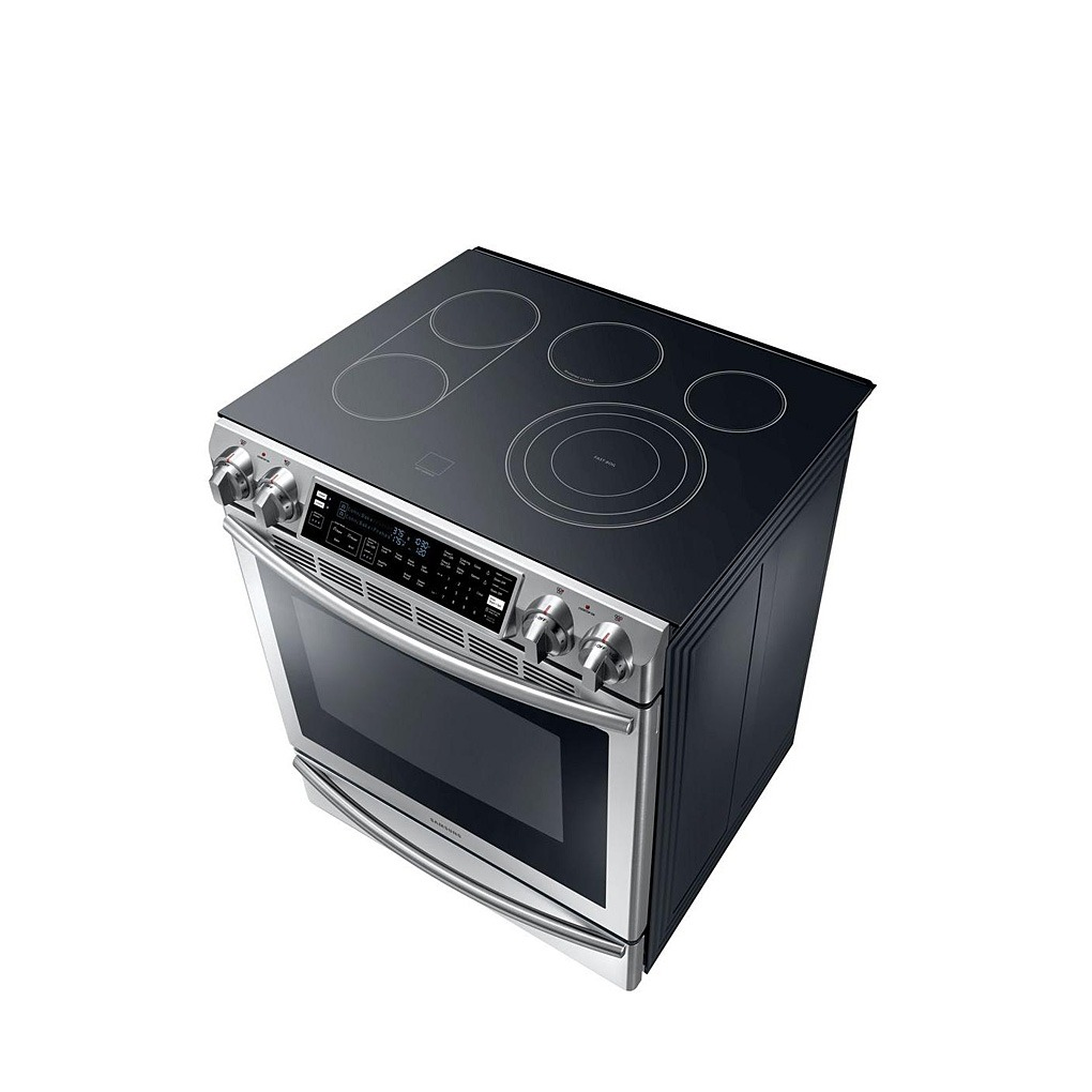 Samsung 5.8 cu.ft Slide In Electric Range SS NE58F9710WS