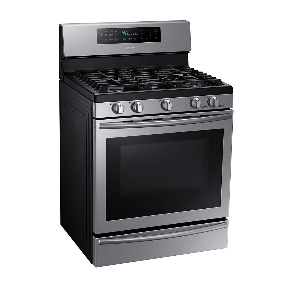 Samsung 30-in Gas 5-Burner 5.8 cubic ft Convection Gas NX58H5650