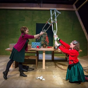 Molly Parchment and Rachel Van Marter in CHRISTMAS EVE EVE, directed by Jacqueline Stone