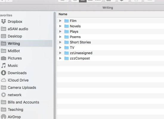 a neat folder hierarchy.