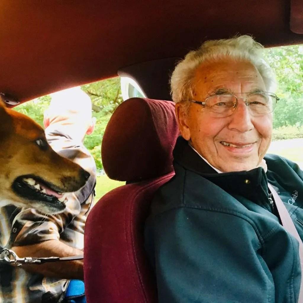 Jasper and Nola in Jasper's car.