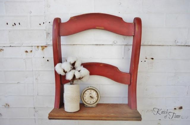 Полка из старого стула
