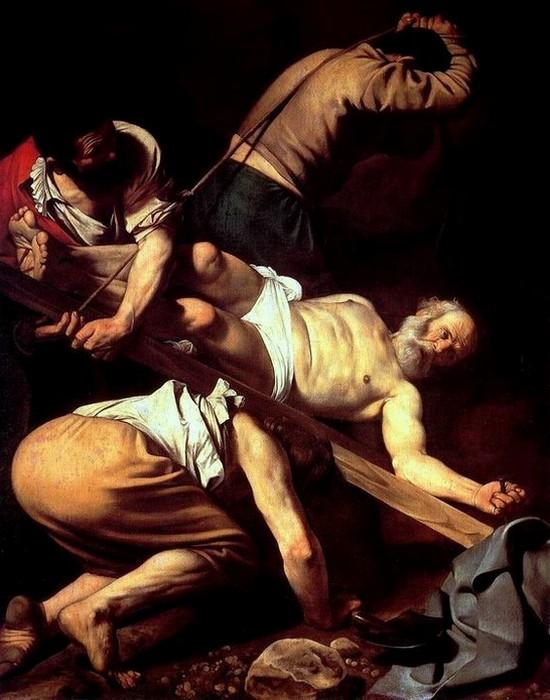 Фрагмент картины «Распятие святого Петра», 1601 год.