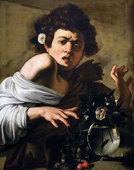 Фрагмент картины «Мальчик, укушенный ящерицей», 1593-1594 годы.