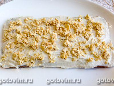 Творожно-банановый торт из печенья без выпечки, Шаг 10