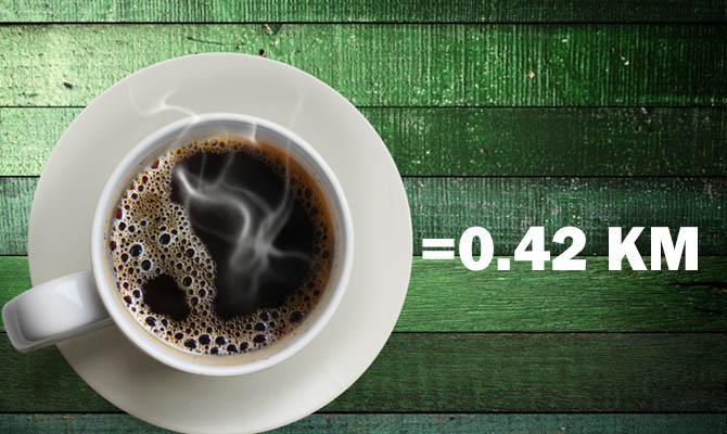 Чашечка крепкого растворимого кофе