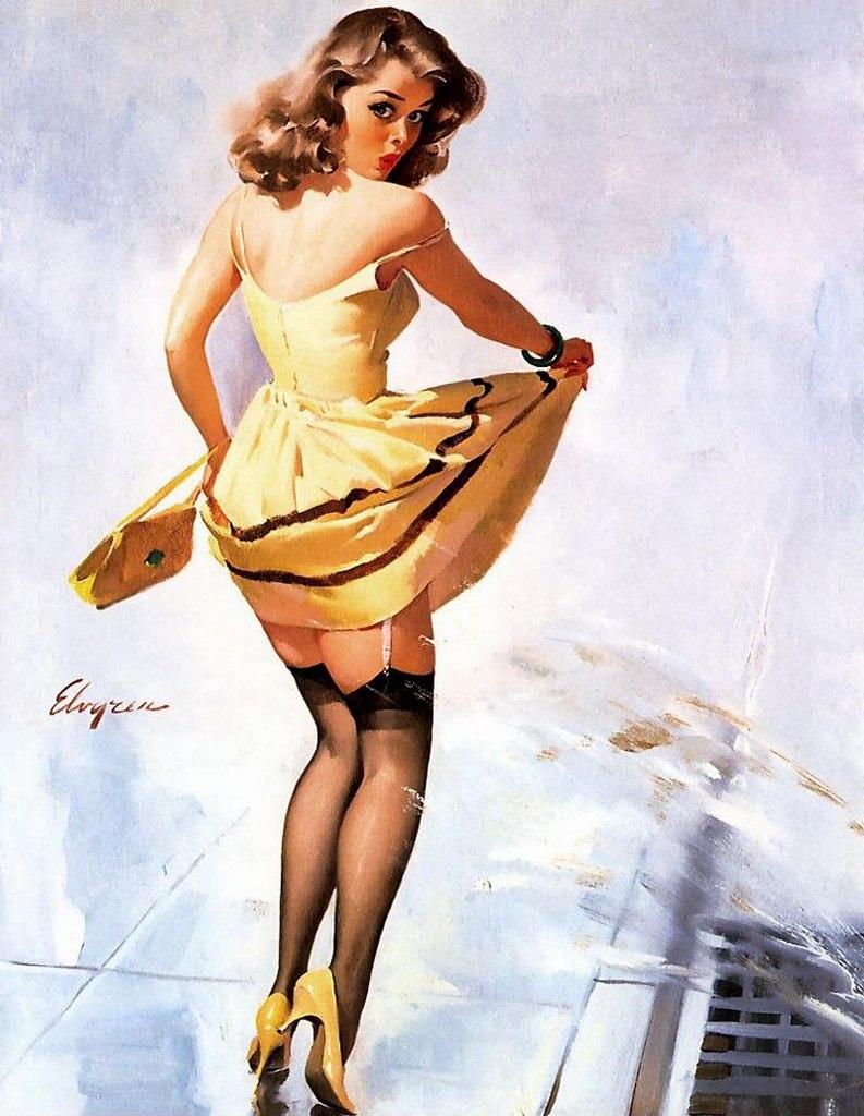 Классический пин-ап от Джила Элвгрена
