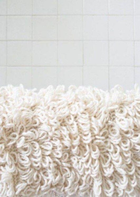 Как вывязать махровое полотно своими руками 1