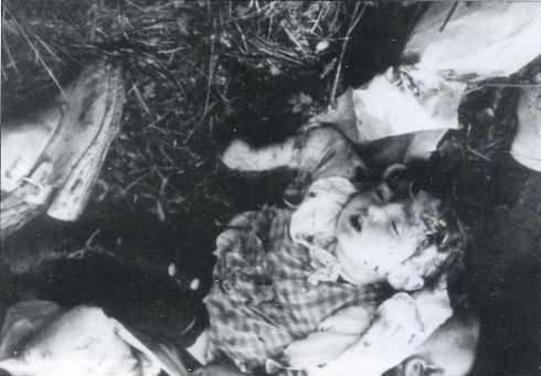 Волынская резня. Зверские убийства детей. Фото