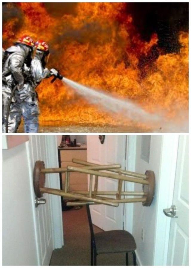 Чтобы не было неприятных неожиданностей дверь должна открываться внутрь квартиры