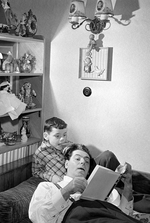 Аркадий Райкин с сыном Константином. 1957 год архив, картинки, фото